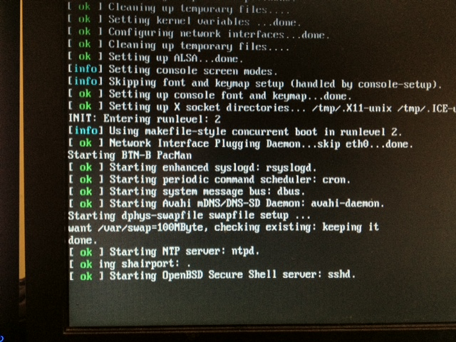 Hangs at Starting SSHD server after adding init d script